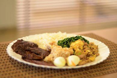 Mais de 10 tipos de carne compõem o bufê Tavares, em Ceilândia  (Jhonatan Vieira/Esp. CB/D.A Press)