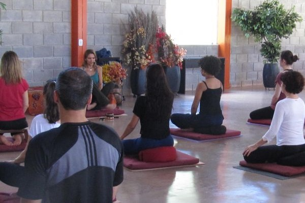 Aula de meditação da Sociedade Vipassana (Sociedade Vipassana/Divulgação)
