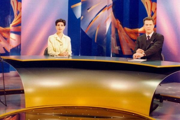 Ao lado de Fátima Bernades, ele esteve na bancada do Fantástico (Arquivo/TV Globo)