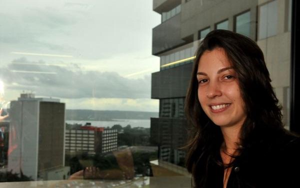 Júlia Hormann é uma das responsáveis por comandar a festa (Marcelo Ferreira/CB/D.A Press)