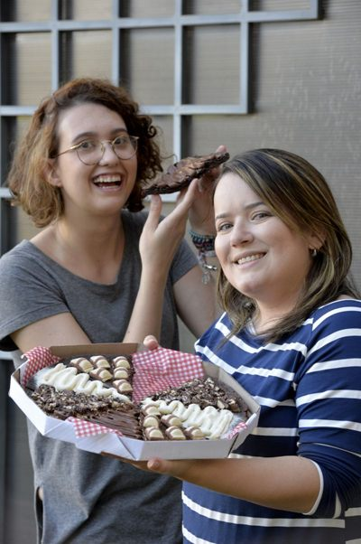 A pizza brownie é um sucesso entre os clientes da Mimo Brownies (Ed Alves/CB/D.A Press)