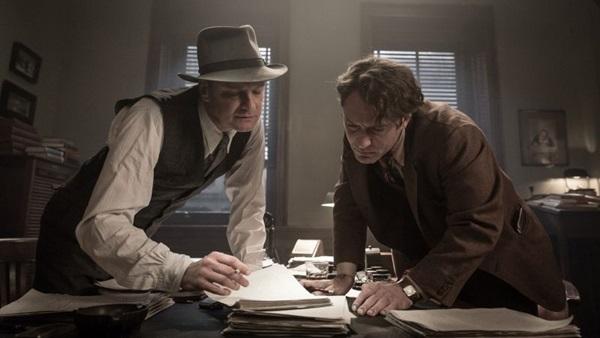 A relação inicialmente difícil entre Max Perkins e Thomas Wolfe se transforma numa grande amizade  (Reprodução/Internet)