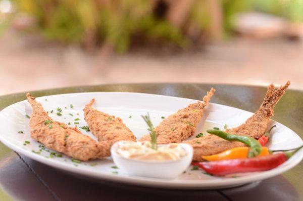 Os petiscos e o clima de praia são atrativos do Ilê Restaurante (Jhonatan Vieira/Esp. CB/D.A Press)