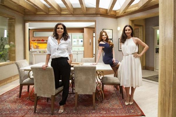 Em 'Haja coração', ao lado de Ellen Rocche e Carolina Ferraz, Malu experimenta um gênero novo: a comédia (TV Globo/Divulgação)