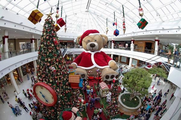 Os shoppings de Brasília já estão em clima natalino (Reprodução internet)