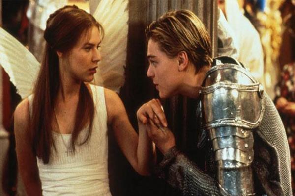 Claire Danes e Leonardo DiCaprio no filme 'Romeu e Julieta' (Reprodução internet)