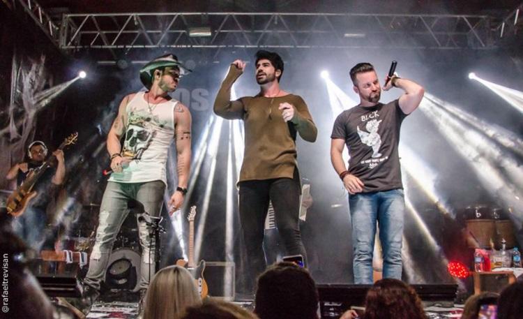 banda é formado por Bruno Araújo, Rodrigão e Marlon (da dupla Marlon & Maicon)  (Rafael Trevisan/Divulgação)