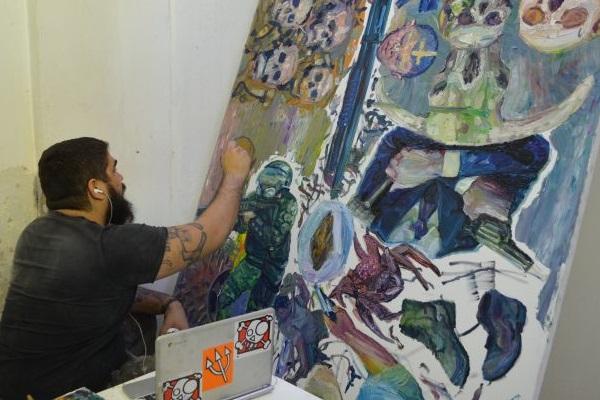 Obras como a de Thiago Martins são vendidas para ajudar na reforma do Elefante Centro Cultural (Flávia Gimenes/Divulgação)