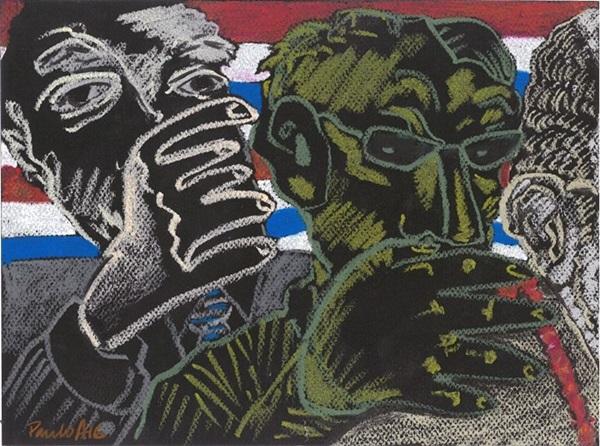 Vinte anos da produção de Paulo Andrade são reunidos em 'Desenhos'  (Divulgação / Museu Nacional)