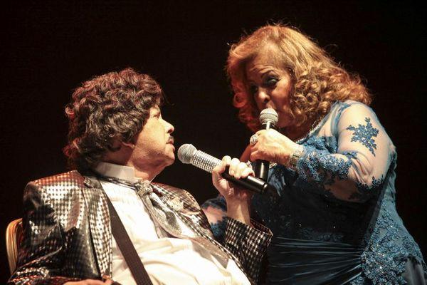 Cauby Peixoto e Ângela Maria, no Net Live. (Rayan Ribeiro/Divulgação)