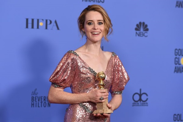 A atriz levou o Globo de Ouro na primeira indicação da carreira (ROBYN BECK)
