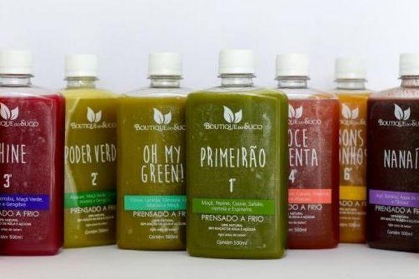 Os sucos da Boutique do Suco são produzidos sem adição de água, açúcares ou conservantes (Felipe Barreira/Divulgação)