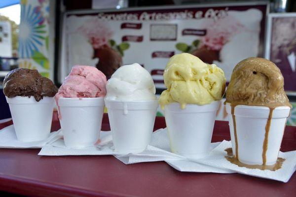 Os sorvetes do Zagaia são feitos com menos açúcar do que o comum (Ed Alves/CB/D.A Press)