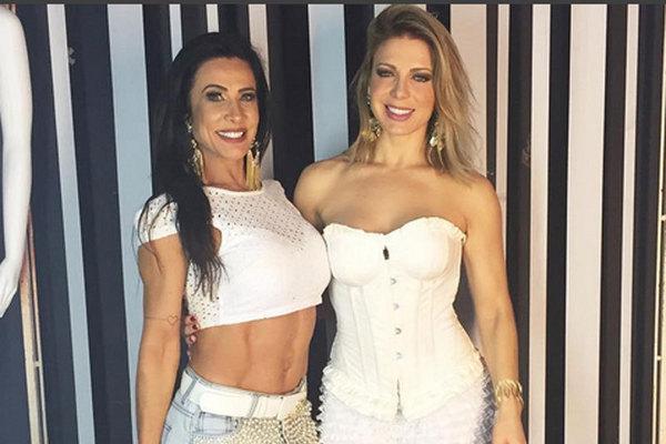 As ex-dançarinas do É o Tchan comando o Baile do Branco, na Victoria Haus (Instagram/Reprodução)
