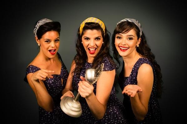 O grupo Cluster Sisters trazem o swing jazz das décadas de 1930 e 1940 (Luiz Rodrigues/Divulgação)