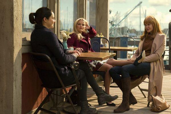 Shailene Woodley, Reese Whiterspoon e Nicole Kidman dividem a cena em 'Big little lies'  (HBO/Divulgação)