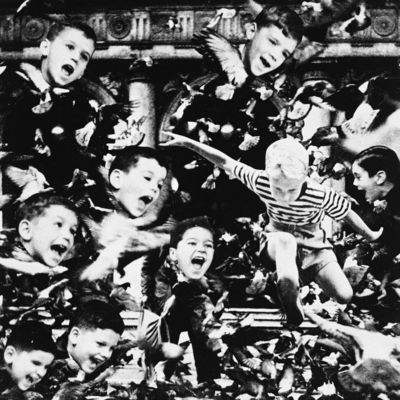 Obra Crianças em Veneza, de Athos Bulcão, na mostra 'Fotomontagens' (Reprodução)