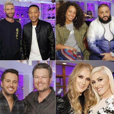 Os técnicos Adam Levine, Alicia Keys, Blake Shelton e Gwen Stefani já escolheram seus mentores para a 12a edição do 'The Voice US'  (Sony/Divulgação)