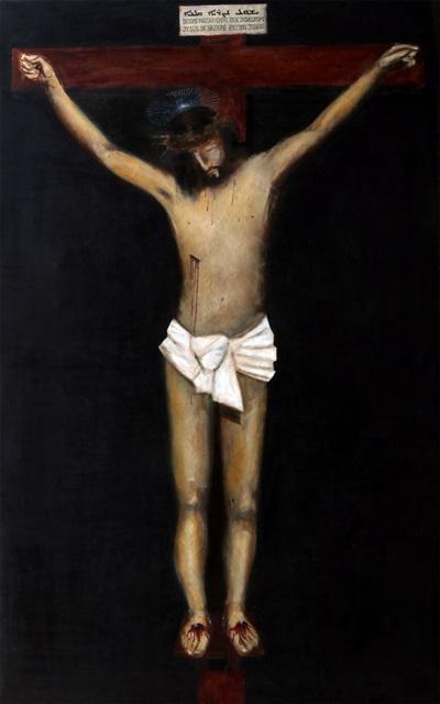Uma releitura do Cristo crucificado está na exposição Córtex (Fernando Aquino/Divulgação)