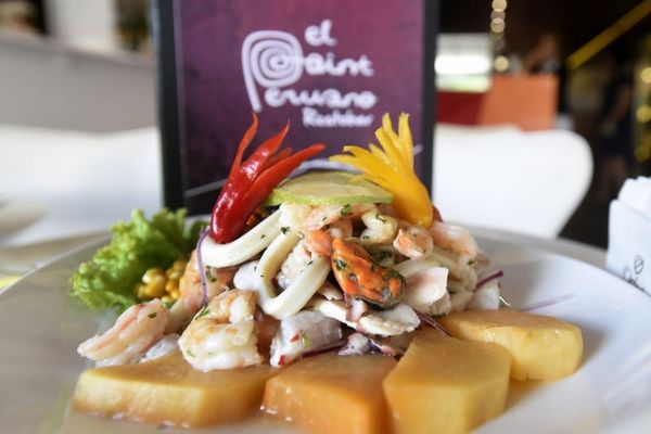 Ceviche misto de frutos do mar do Restaurante El Point do Deck Brasil (Ed Alves/CB/D.A Press)