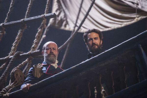 Murilo Grossi reencontrou o amigo Gabriel Braga Nunes nos sets da novela (Globo/Mauricio Fidalgo)