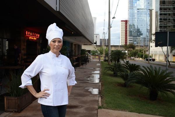 Chef Cris Fumie, da Quattro Pizza Bar  (Ana Rayssa/Esp. CB/D.A Press )