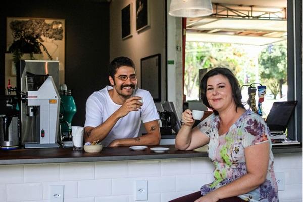 Lucas Hamú e Juliana Pedro: cena cafeeira unida, sem rivalidade (Arthur Menescal/Esp. CB/D.A Press)