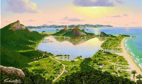 O Rio Antigo ganha cores pelas telas de Eduardo Camões (Reprodução/Divulgação)