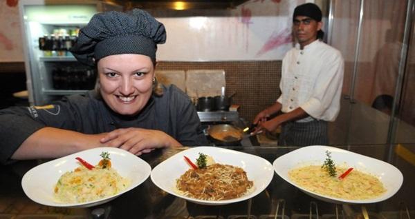 Ticiana Werner é especialista em risotos (Carlos Moura/CB/D.A Press)