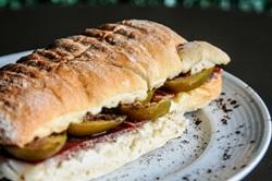 Figo, parma e café são os protagonistas desse sanduíche nada convencional (Bárbara Cabral/Esp. CB/D.A Press)