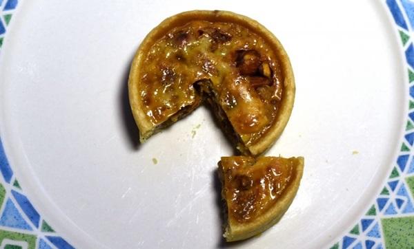 A quiche de pralinê aposta nas amêndoas para aflorar a sensualidade do prato (Antonio Cunha/CB/D.A Press)