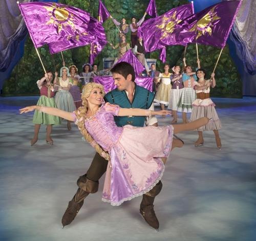 A versão Disney da Rapunzel encanta crianças na telinha e no gelo (Heinz Kluitmeier/Disney)
