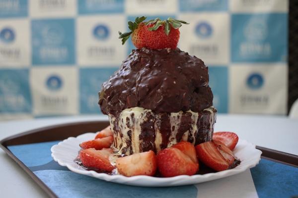 Dilúvio de Ovomaltine, nova sobremesa da Stonia Ice Creamland (Ana Rayssa/Esp. CB/D.A. Press)