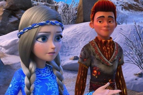 Irmãos Gerda e Kai entram em confronto no longa 'Reino gelado: Fogo e gelo' (Reprodução/Internet)