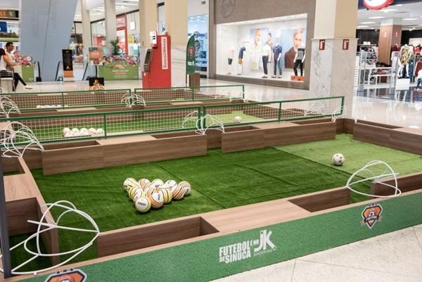 A mistura entre futebol e sinuca vai divertir os amantes dos esportes (Telmo Ximenes/Divulgação)