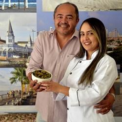Pollyana Dahas e o marido, Wady Dahas Rossy Filho, apostam nos sabores paraenses (Marcelo Ferreira/CB/D.A Press)