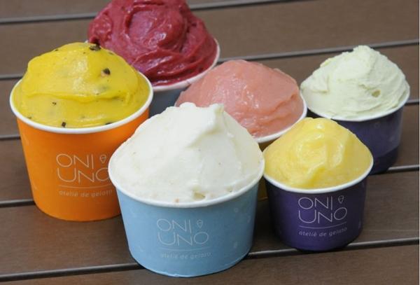 Naturais, gelatos de fruta da Oni-uno, de Vanessa Brito, não usam conservantes ou aromatizantes (Ed Alves/CB/D.A Press)