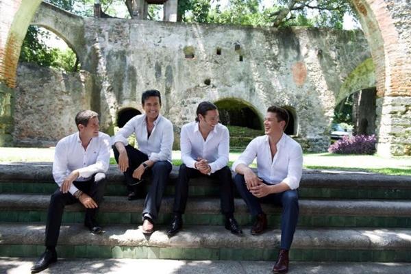 Formado por quatro cantores, o grupo Il Divo desembarca em Brasília para uma apresentação com clássicos da música pop (Marcello Ambriz/Divulgação)