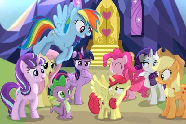 O colorido e as músicas marcam as cenas de My little pony  (Reprodução/Internet)
