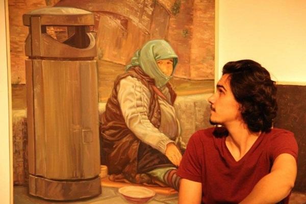 Felipe Salsano pinta cenas observadas em viagens (Andrea Cabral/Divulgacao)