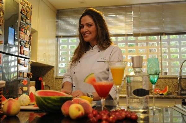 Tatiana Lisboa preparou bebidas especiais de ano novo (Barbara Cabral/Esp. CB/D.A Press)