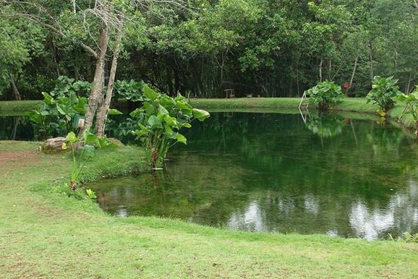 O Lago Azul é um dos pontos mais visitados de Vila Propício (Goiás Turismo/Divulgação)