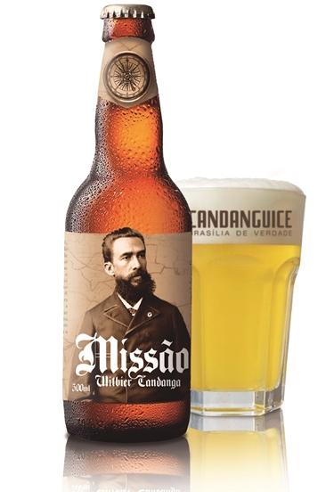 A cerveja 'Missão' é uma refrescante e leve Witbier com aromas de sementes de coentro, laranja e limão.      (Candanguice/Reprodução )