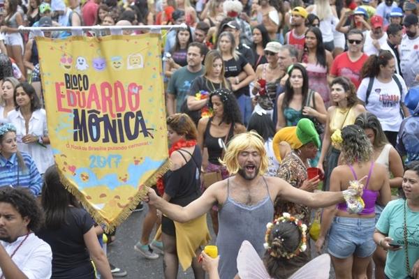 O bloco de rua que homenageia o rock no DF chega a sua segunda edição (Marcelo Ferreira/CB/D.A Press)