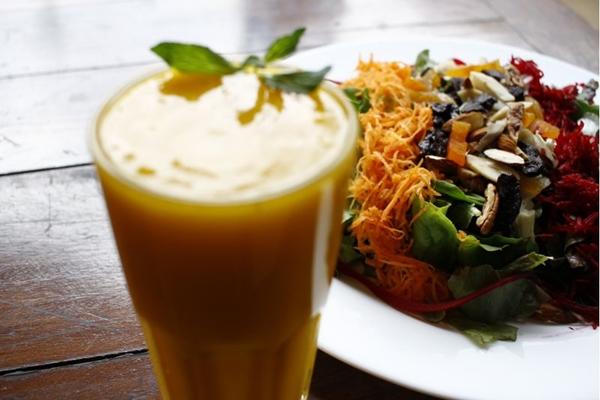 Os pratos do Bhumi são feitos com produtos orgânicos (Ana Rayssa/Esp. CB/D.A Press)
