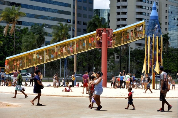 Parque Ana Lídia foi inaugurado em 1971 (Marcelo Ferreira/CB/D.A Press)