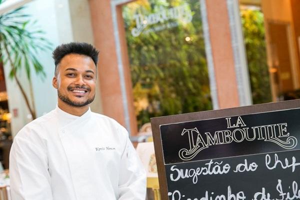 Chef Kenis Henon revela os segredos do cardápio do La Tambouille para o festival Restaurant Week (Gilberto Evangelista/Divulgação)