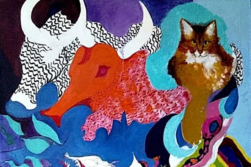 As telas de Sylvia Barreto trazem a percepção interior da artista (Sylvia Serra Barreto/Divulgação)