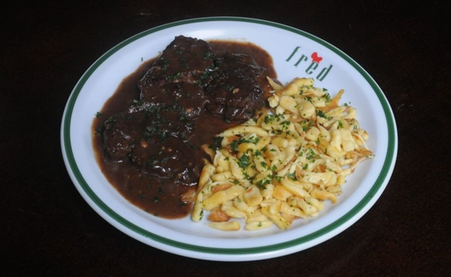 O goulash do restaurante Fred é preparado com músculo bovino<br /><br /><br /><br /><br /><br />  (Antonio Cunha/CB/D.A Press)