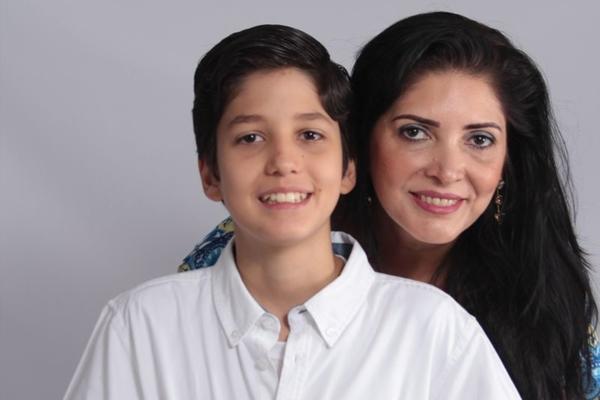Adriana e o filho Marco Antônio escreveram e imaginaram a história em conjunto  (Arquivo Pessoal )